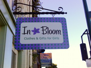 In Bloom Aluminum Blade Sign
